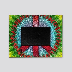 Abstract Peace Sign Picture Frame