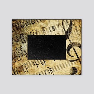 Grunge Music Note Picture Frame
