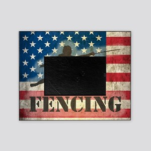 Grunge USA Fencing Picture Frame