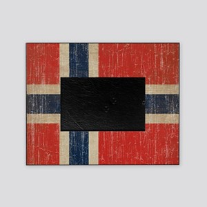 Vintage Norway Flag Picture Frame