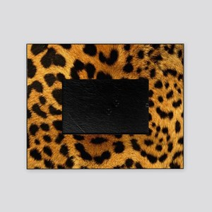 girly trendy leopard print Picture Frame