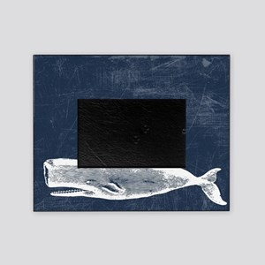 Vintage Whale White Picture Frame