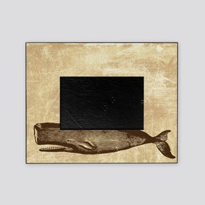 Vintage Whale Brown Picture Frame