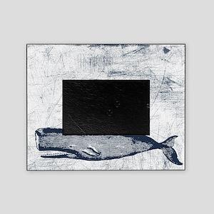 Vintage Whale Dark Blue Picture Frame