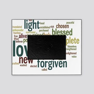 Who I am in Christ Teal Picture Frame