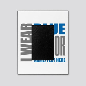 Blue Awareness Ribbon Customized Picture Frame