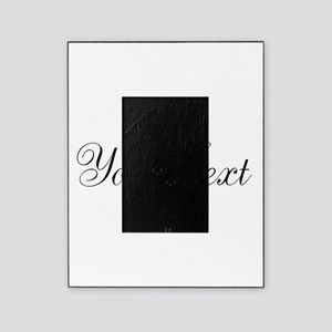 Personalizable Black Script Picture Frame