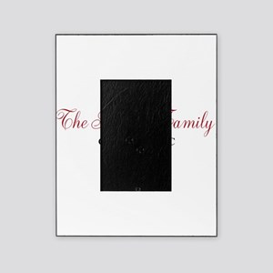Personalizable Family Black Red Picture Frame