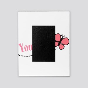 Personalizable Pink Butterfly Picture Frame