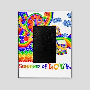 Retro Rainbow Hippie Van Picture Frame