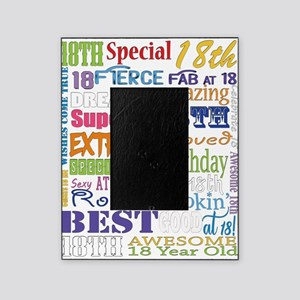 18th Birthday Typography Picture Frame