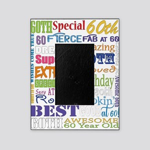 60th Birthday Typography Picture Frame