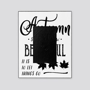 Distressed Autumn Quote print with B Picture Frame
