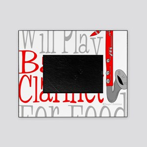 Will Play Bass Clarinet dark Picture Frame