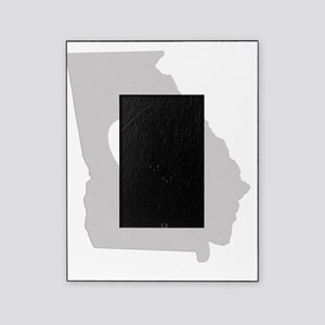 Heart Georgia state silhouette Picture Frame