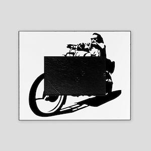 moto biker anarchy Picture Frame