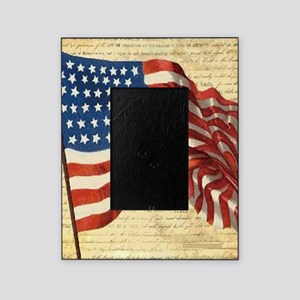 Vintage American Flag Constitution Picture Frame