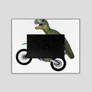 Tyrannosaurus Rex On Motorcycle Picture Frame