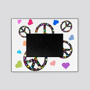 Peace symbols and hearts Picture Frame