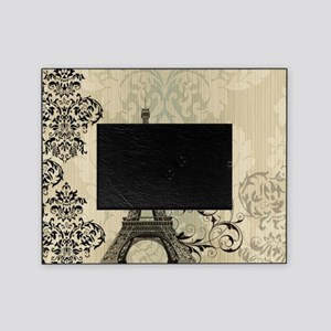 vintage paris eiffel tower damask Picture Frame