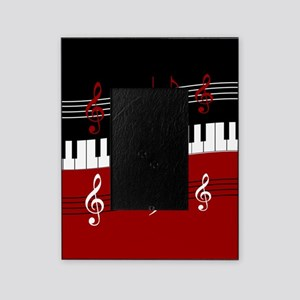 Stylish Piano keys and musical notes Picture Frame