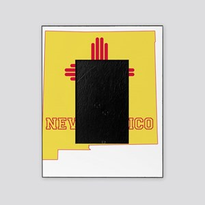 New Mexico State Flag and Map Picture Frame