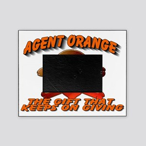 AGENTORANGE WITH SKULL Picture Frame