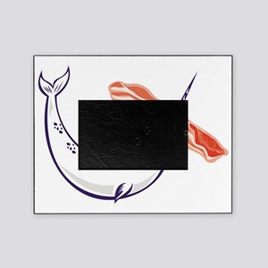 narwhal whale and bacon Picture Frame