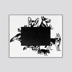 black and white GSD collage Picture Frame