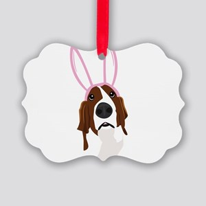 easter_basset_noback Picture Ornament