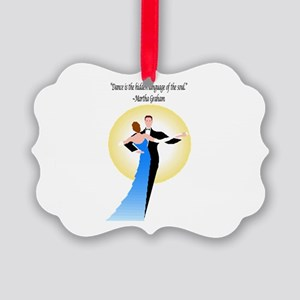 BallroomDanceCardTransparent Picture Ornament