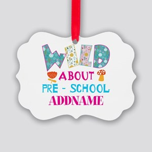 Wild About Pre-K Kids Back To Sch Picture Ornament