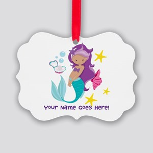 Purple Mermaid Ornament