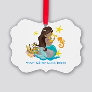 Brunette Mermaid Ornament