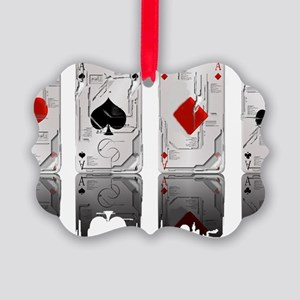Aces Loaded Picture Ornament