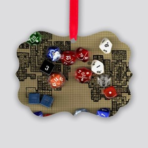 Dice and RPG dungeon map Picture Ornament