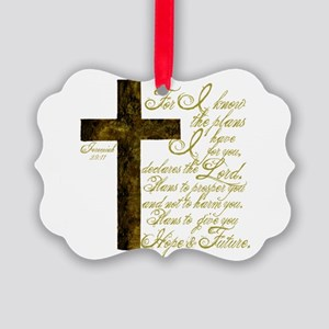 Plan of God Jeremiah 29:11 Picture Ornament