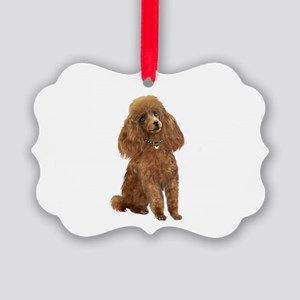 Poodle (toy-Min-Apric.) Picture Ornament