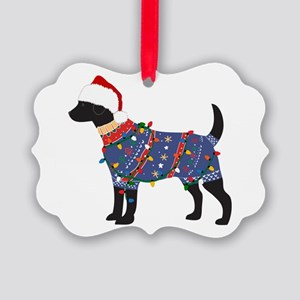 Black Lab Ugly Christmas Sweater Ornament