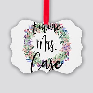 Future Mrs. Case Engaged Bridal Picture Ornament