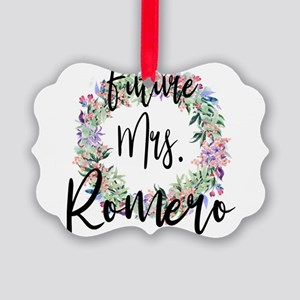 Future Mrs. Romero Engaged Bridal Picture Ornament
