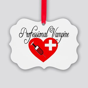 Phlebotomist - Professional Vampi Picture Ornament