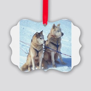 huskies1 Picture Ornament