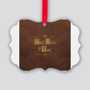 Once Upon a Time Book Title Picture Ornament