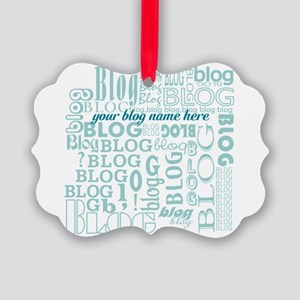 Your Blog Name Picture Ornament