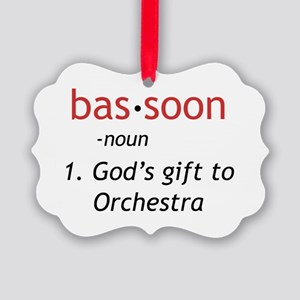 bassoon def light Picture Ornament