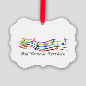 Colorful Personalized rainbow musical notes Pictur