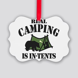 Real Camping Picture Ornament