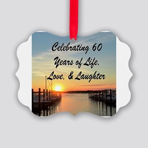 BEAUTIFUL 60TH Picture Ornament
