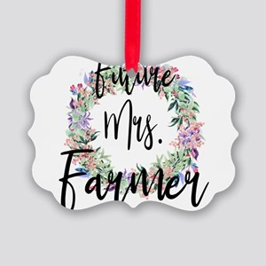 Future Mrs. Farmer Engaged Bridal Picture Ornament